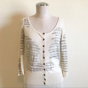 Anthropologie | Guinevere Sight Reading Cardigan